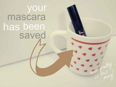 The hot water trick also works for getting the clumps out of dried mascara.