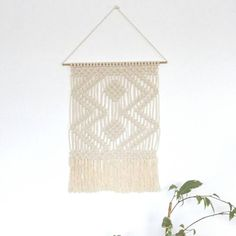 Wall mural in macrame/wall hanging macrame/modern wall