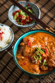 """Vindaloo Spicy Curry - #recipe by @simoneskitchen. Note: Ingredient """"Santen"""" is known in the UK as """"creamed coconut"""""""