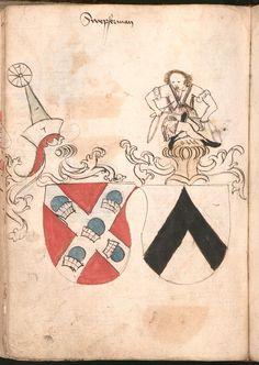 Wernigeroder (Schaffhausensches) Wappenbuch Süddeutschland, 4. Viertel 15. Jh. Cod.icon. 308 n  Folio 188v