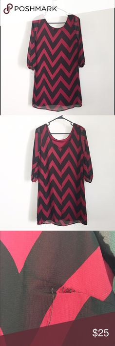 Chevron dress Cute chevron dress! Only wore it once! I noticed a loose seem starting (pic 3). Comes from a non smoking home. Reasonable offers accepted and save with bundles. Dresses Midi