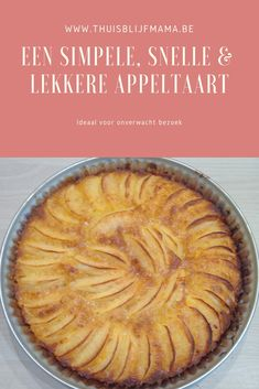 Apple pie recipe: ready quickly and easily. - Stay-at-home mom - Recipe for a super fast apple pie: simple and quick, but very tasty. Dutch Recipes, Apple Pie Recipes, Sweet Recipes, Winter Desserts, Pie Cake, No Bake Cake, Cake Cookies, Cupcake Cakes, Appetizer Recipes