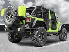 Warrior Products Rear Tube Flares in Black Diamond Plate for 07-up Jeep® Wrangler Unlimited JK 4-Door