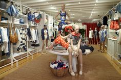 Our new East Hampton Polo store is equipped with summery Blue Label styles that transition from the city to the shores