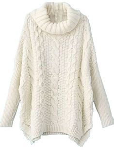 Milumia Women's Turtleneck Chunky Cable Knit Basic Sweater M / US 6 White