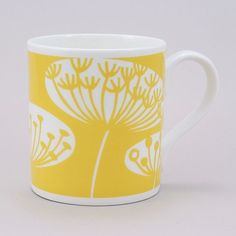 Fiona Howard Hedgerow Mug Yellow from www.illustratedliving.co.uk