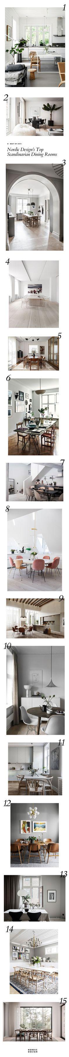 Best of 2017: Nordic Design's Top Scandinavian Dining Rooms | NORDIC DESIGN
