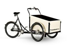 Christiania Boxycycle Family:  I want this with a Copenhagen Wheel for the daily errands.
