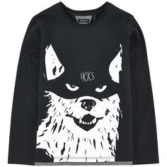 Cotton jersey  Crew neck Long sleeves Trims with raw seams Fancy print on the front Contrast piping - ₩ 37,796