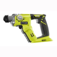 Cordless SDS Plus Rotary Hammer Drill 18 Volt in Compact Jobsite Power Tool Hammer Drill Bits, Hammer Tool, Cordless Hammer Drill, Electric Hammer, Ryobi Tools, Drill Set, Sds Plus, Electrical Tools, Woodworking Hand Tools