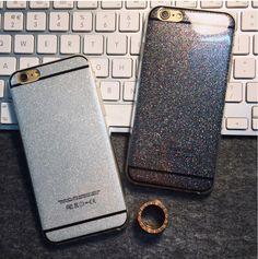 Thời trang Glitter Trường Hợp Đối Với Apple iPhone 6 6 s Silica Gel Trường Hợp 6 cộng với 6 s Cộng Với 5 s SE Rắn Mềm Điện Thoại Bìa Conque Capa Funda