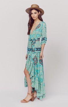 Spell Clothing Dresses Maxi Dresses Aloha Fox Wrap Dress