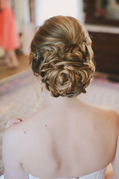 vintage braid wedding updo hairstyle for long hair