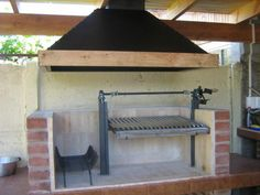 Asado Grill, Bbq Grill, Outdoor Kitchen Grill, Outdoor Cooking, Backyard Projects, Outdoor Projects, Bbq Shed, Brick Bbq, Fire Pit Grill