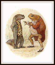 "Jeremy Fisher und Sir Isaac Newton von Beatrix Potter Kunstdruck 8 x 10 "" - frog - Science Isaac Newton, Fisher, Beatrix Potter Illustrations, Beatrice Potter, Peter Rabbit And Friends, Frog And Toad, Children's Book Illustration, Illustrators, Cute Pictures"