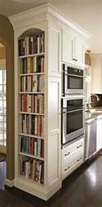 Storage shelves for cookbooks