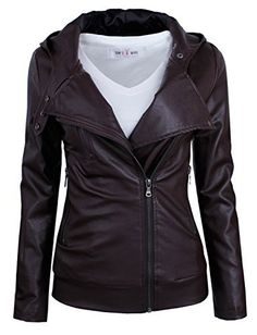 #womensfashion Tom's Ware Women's Fashionable Asymmetrical Zip-up Faux Leather Jacket: Currently you are looking at Tom's… #womensclothing