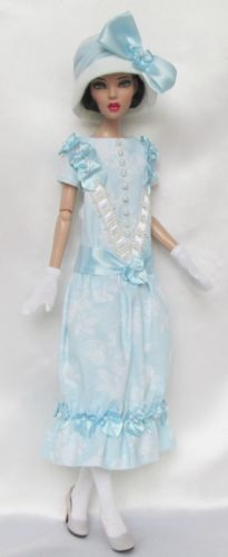 "Lady in Blue 1920s for 16"" Tonner Deja Vu Made by Ssdesigns 