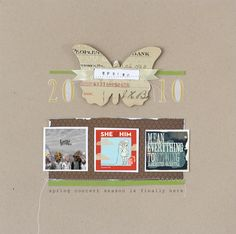 Scrap Lift Date: large embellishment and year