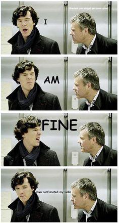 Sherlock his violin back, John.Give Sherlock his violin back, John. Sherlock John, Benedict Sherlock, Sherlock Fandom, Jim Moriarty, Shinee Sherlock, Sherlock Holmes Serie, Sherlock Holmes Wallpaper, Sherlock Holmes Dibujos, Quotes Sherlock