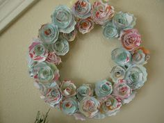 The House Creative: Paper Flower Wreath