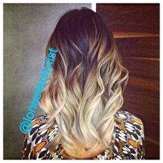 Dramatic ombre hair color By Teresa Cliff Instagram: @lonestarstylist