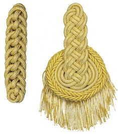 Fabricantes de hombreras bandas de música oro plástico Rope Decor, Gold Embroidery, Character Outfits, Historical Clothing, Victorian Fashion, Textures Patterns, Costume Design, Knots, Military Jacket