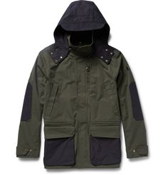 The Workers Club - Two-Tone Hooded Cotton-Canvas Jacket | MR PORTER   Quality A/W Outdoor jacket.