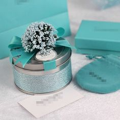 Silver Iron Wedding Favor Candy Box  DIY  Party by sweetywedding