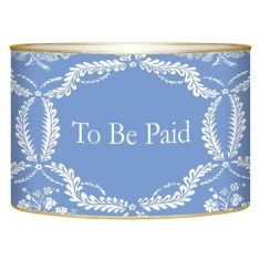 Medium Blue Provencial Decoupage Bills to be Paid Box-Available in Two Different Sizes The Well Appointed Home $62.00