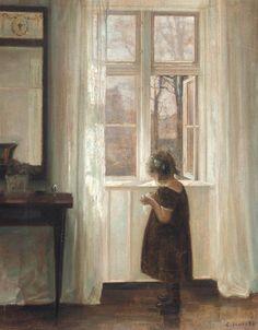 Inge by the Window - Carl Vilhelm Holsoe