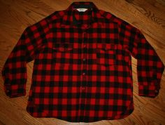 da997d22de1f0 Vintage Woolrich red black Buffalo Plaid Wool camp Shirt-2XL  xxl-hunting fishing