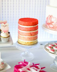 Ombre Layer Cake | Ashley Nicole Events | 100 Layer Cakelet