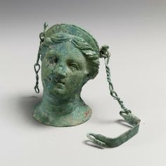 Etruscan bronze balsamarium, late 4th or early 3rd century BCE