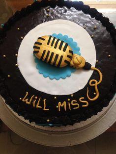 Microphone theme cake Themed Cakes, Birthday Cake, Desserts, Food, Theme Cakes, Tailgate Desserts, Birthday Cakes, Meal, Dessert