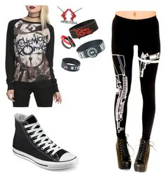 """Untitled #57"" by fallenangelkieo on Polyvore featuring Converse"