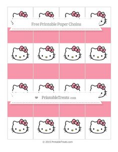 Free Pastel Pink  Hello Kitty Paper Chains