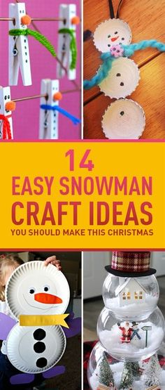 It would never feel like Christmas without snowman decorations all over your house. But you don't have to buy everything you can easily create super cute snowman decorations yourself using simple items you can find at your house. Take a look at these creative ideas for making your own snowman decorations this year.$If you'd like to have more ideas on how to decorate your home for Christmas make sure to check these