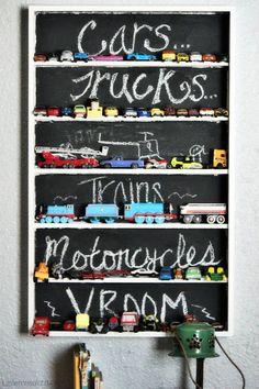 Blackboard storage, child's room organization #kids #decor