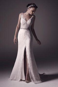 Wedding gown by Amaré.