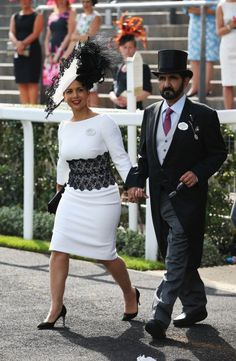 Princess Haya, June 19, 2014 in Philip Treacy | Royal Hats....Ascot Day 3: Ladies' Day.....Posted on June 19, 2014 by HatQueen.