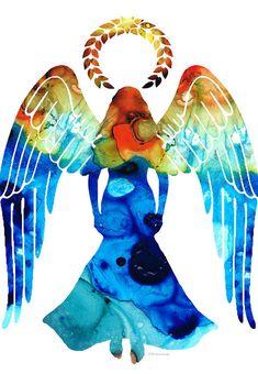 Guardian Angel - Spiritual Art Painting Acrylic Print by Sharon Cummings Thing 1, Guardian Angels, Angel Art, Sale Poster, Art Paintings, Angel Paintings, Painting Art, Sacred Art, Celestial