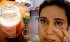 домашний крем от морщинок вокруг глаз (ИНГРЕДИЕНТЫ: 1 столовая ложка кокосового масла 2 блистера витамина Е 2 капли эфирного масла чабреца)