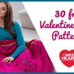 30 free Valentine's patterns from Red heart 2015