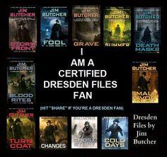 I am a certified Dresden Files Fan