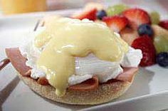 Easy Ham & Eggs Benedict recipe Sauce is much healthier than the traditional. Easy Eggs Benedict, Eggs Benedict Recipe, Bad Carbohydrates, Low Carbohydrate Diet, Kraft Recipes, Ww Recipes, Kraft Foods, Diabetic Recipes, What's For Breakfast