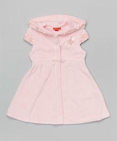5219da3c70aa9 Biscotti & Kate Mack Pink Terry Ruffle Hooded Cover-Up - Girls