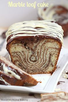 Simple and classic, this marble loaf cake is comfort food at its best. Chocolate and vanilla flavors are swirled to create a beautiful pattern topped with a dark and white chocolate ganache to give you a sense of what's to come