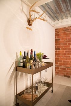 Ashley's Soft Industrial Artist Lofti like the drink cart idea, rather than storing everything and cluttering up cupboards