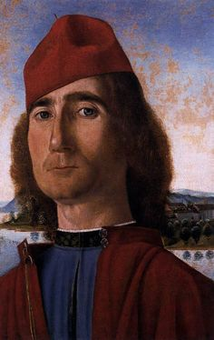 Vittore Carpaccio, Portrait of an Unknown Man With Red Beret, 1490-93
